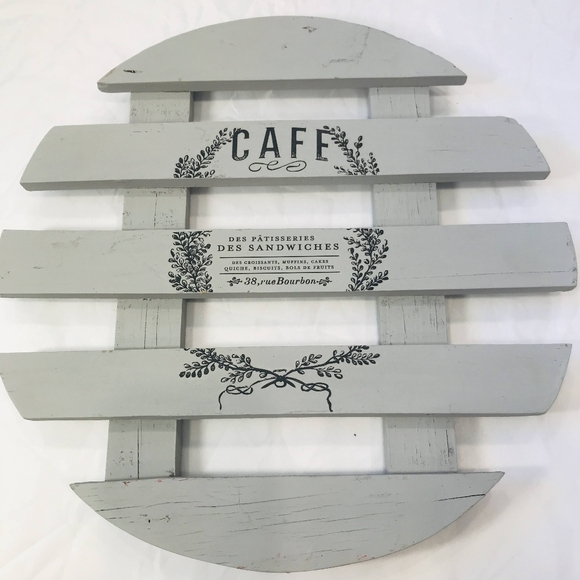 Vintage wooden repurposed trivet wall hanging